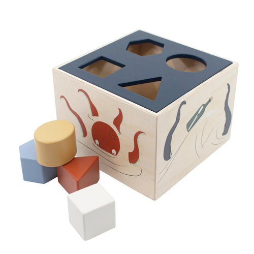 Sebra Wooden Shape Sorter Toy - Seven Seas