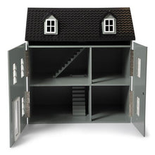 STOY Classic Wooden Dollhouse - Grey