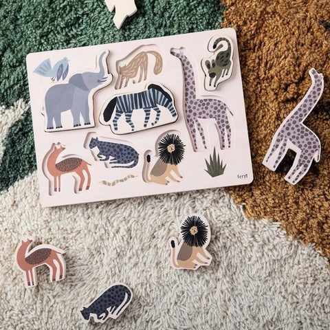 Ferm Living Wooden Safari Puzzle