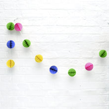 Multicolour Honeycomb Ball 7ft Garland