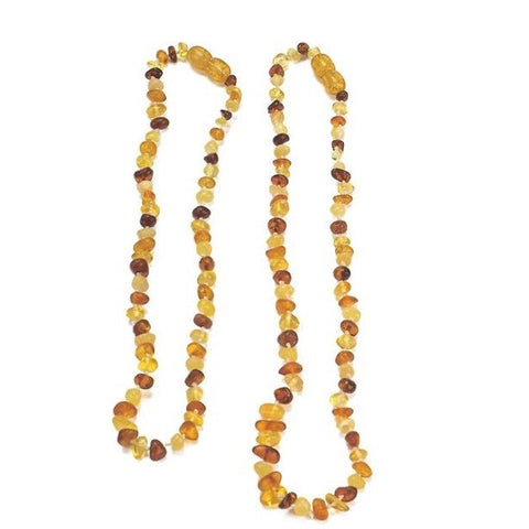 Gluckskafer Multicoloured Amber Necklace