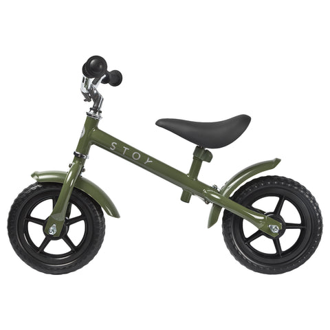 "STOY 10"" Balance Bike - Army Green"