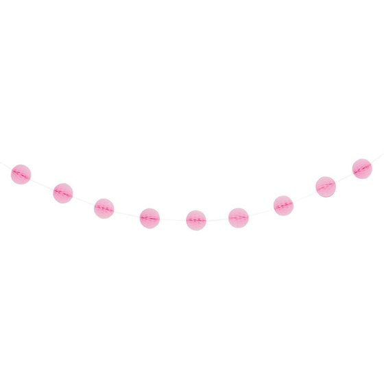 Lovely Pink Honeycomb Ball 7ft Garland