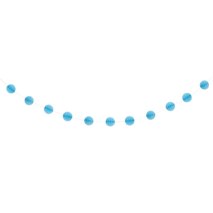 Powder Blue Honeycomb Ball 7ft Garland