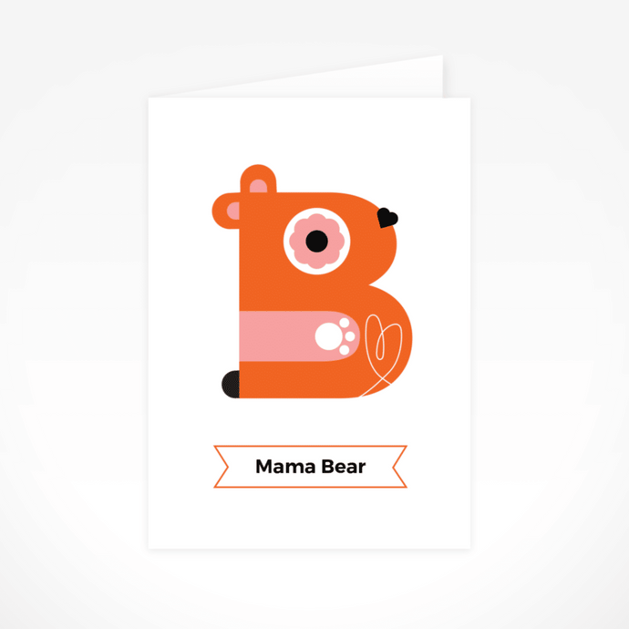 Mama Bear Greeting Card By The Jam Tart