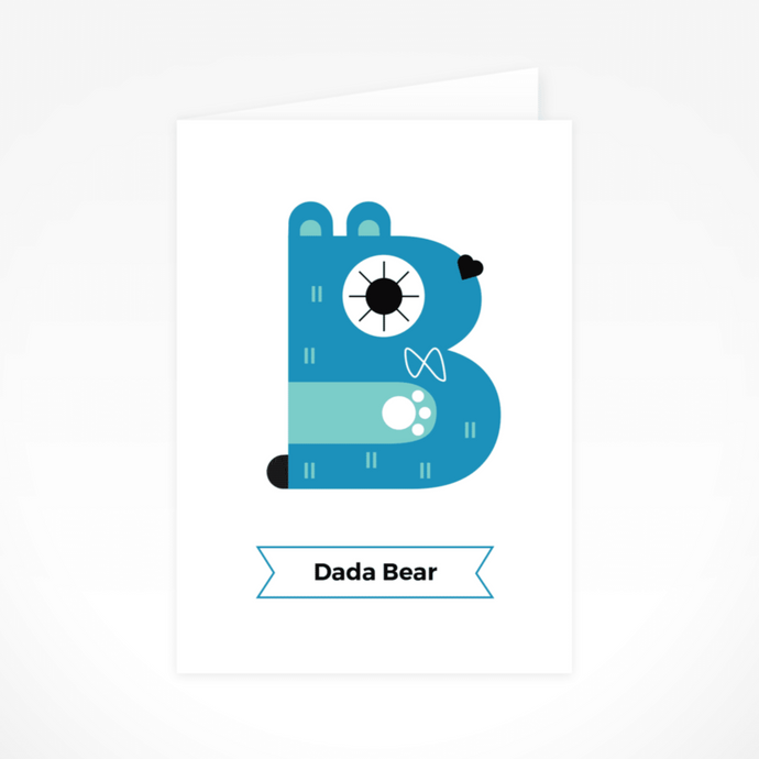 Dada Bear Greeting Card By The Jam Tart