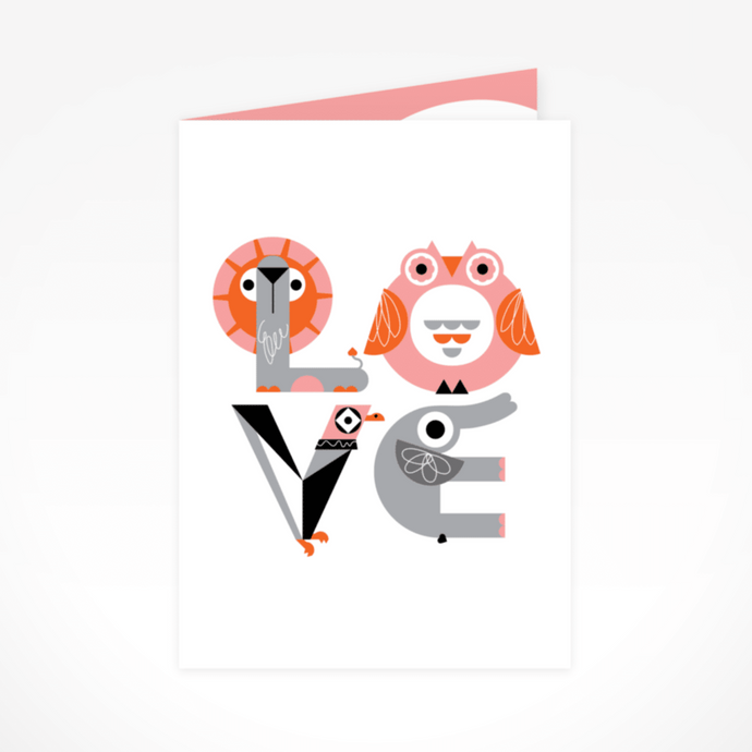 LOVE Greeting Card By The Jam Tart