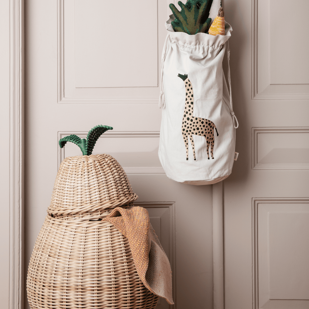 Ferm Living Large Pear Braided Storage Basket