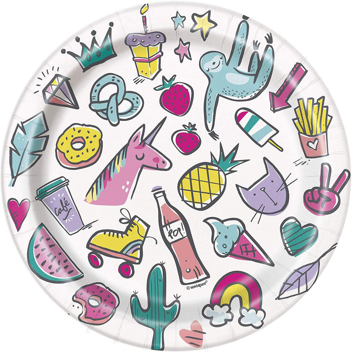 Paper Plates 8 Pack - Favorite Things Birthday 7