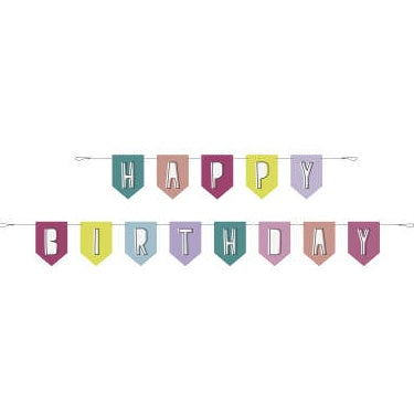 2-Piece 10ft Pennant Banner - Favourite Things Birthday