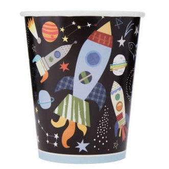 Paper Cups 8 Pack - Outer Space