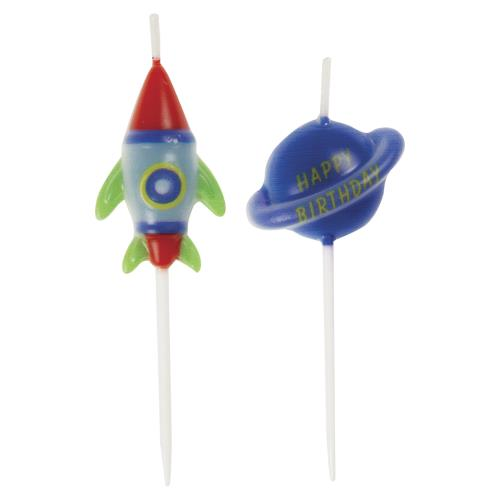 Pick Birthday Candles 6 Pack - Outer Space