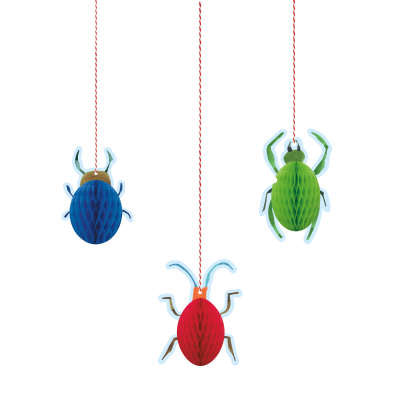 Hanging Honeycomb Decorations 3 Pack - Bug 1st Birthday