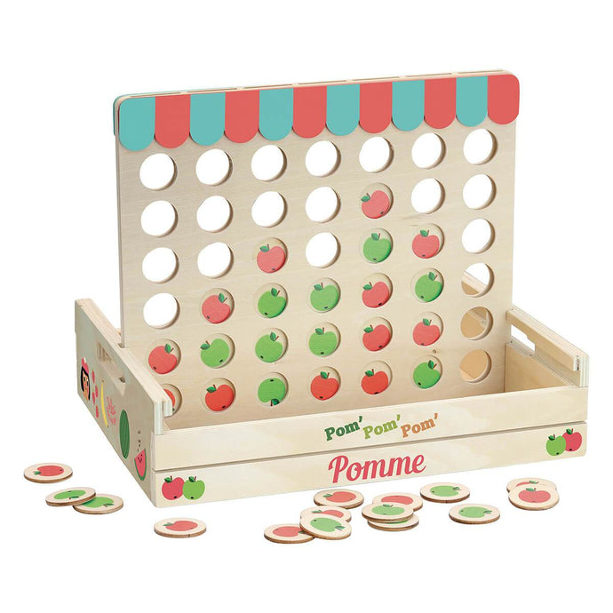 Vilac Wooden Four Apples in a Row Game
