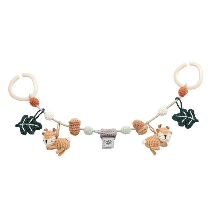 Sebra Crochet Pram Chain - Sika The Deer