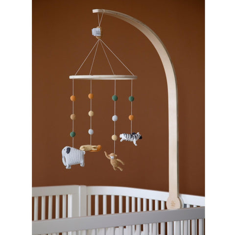 Sebra Crochet Baby Mobile - Wildlife