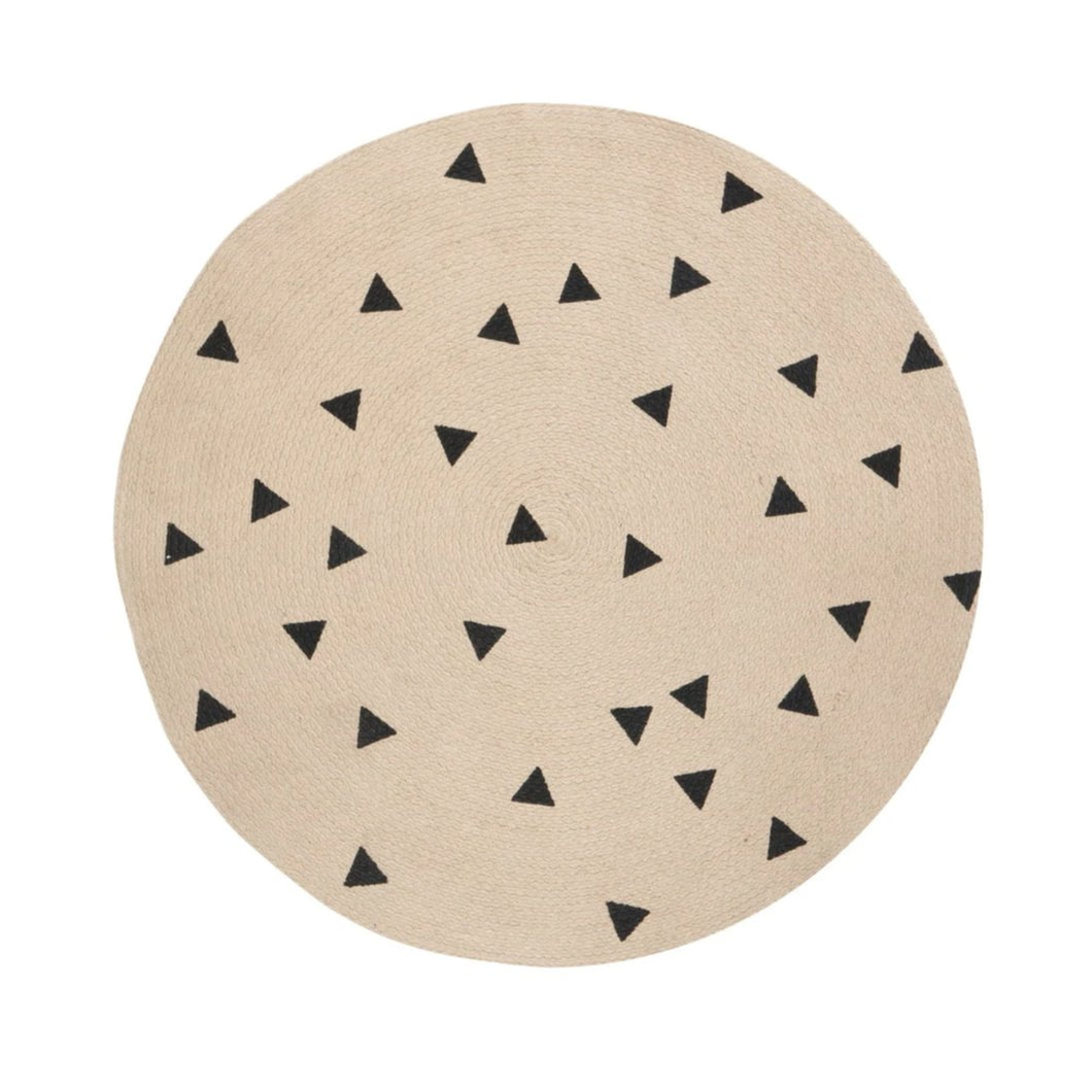 Ferm Living Jute Rug - Black Triangles - 2 Sizes