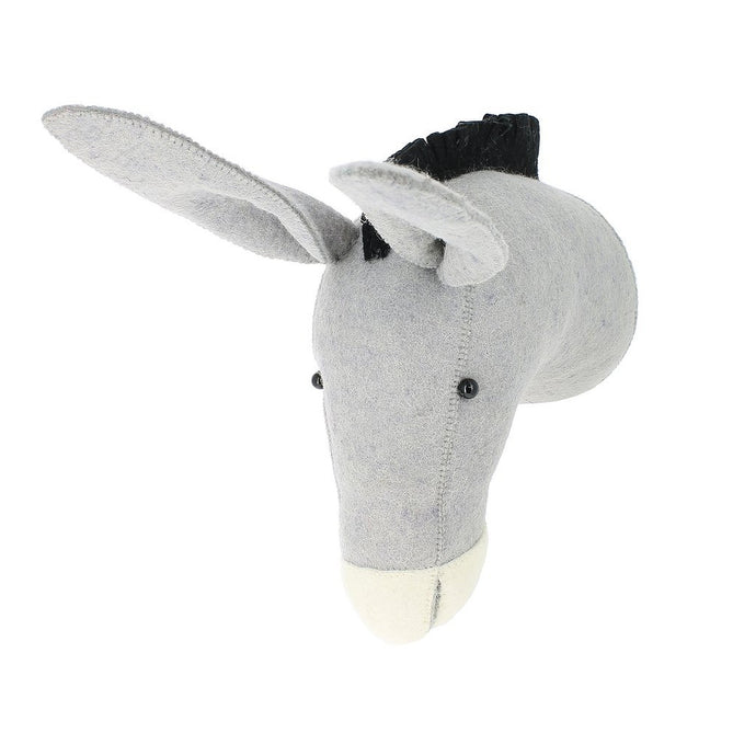 Fiona Walker Donkey Felt Animal Wall Head - Semi