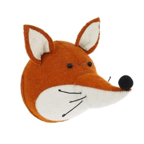 Fiona Walker Fox Felt Animal Wall Head - Large