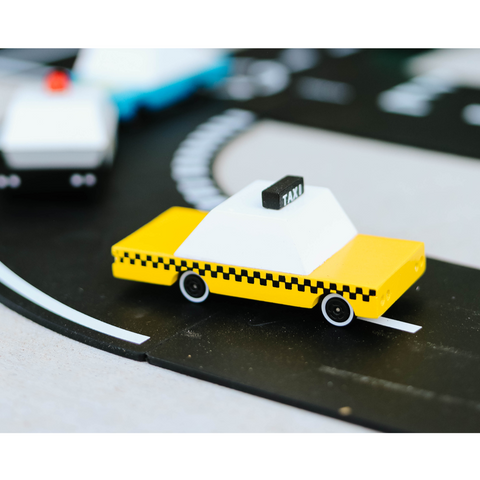 Candylab - Yellow Candycab Wooden Toy Car