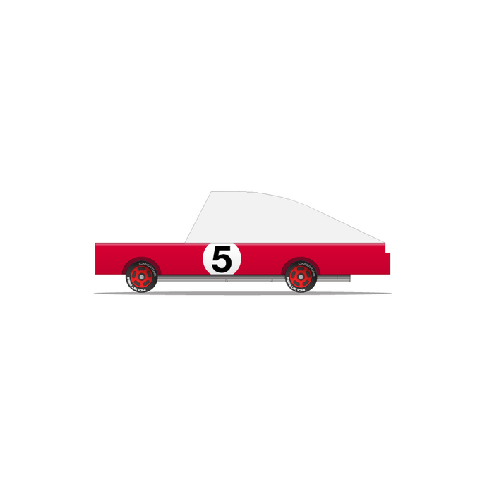 Candylab - Red Racer #5 Wooden Toy Car