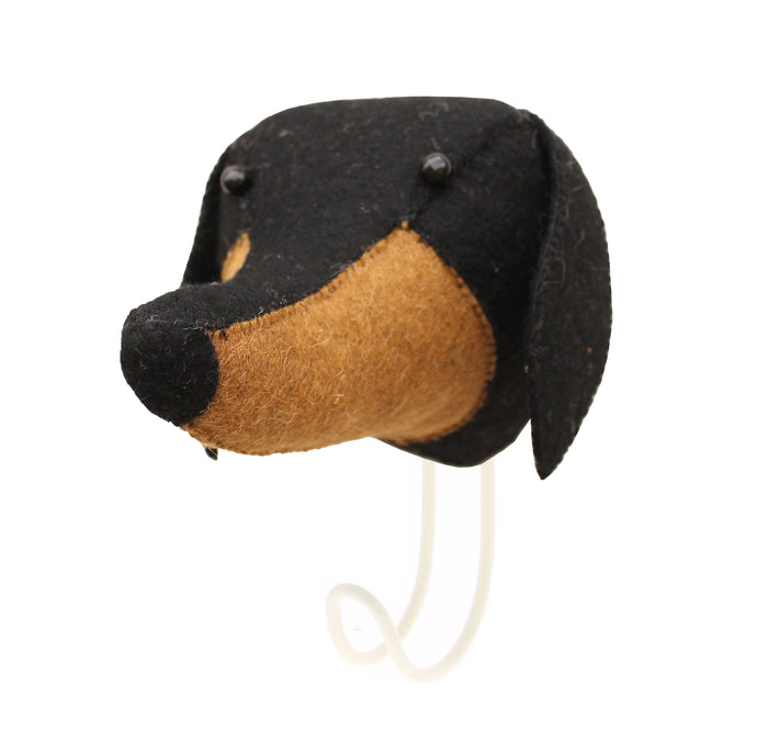 Fiona Walker Felt Animal Wall Hook - Daschund