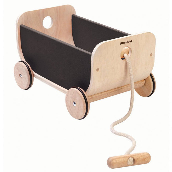 Plan Toys Children's Wooden Wagon - Black