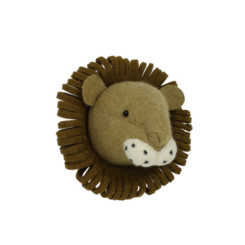 Fiona Walker Lion Felt Animal Wall Head - Mini
