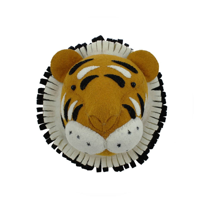 Fiona Walker Tiger Felt Animal Wall Head - Mini