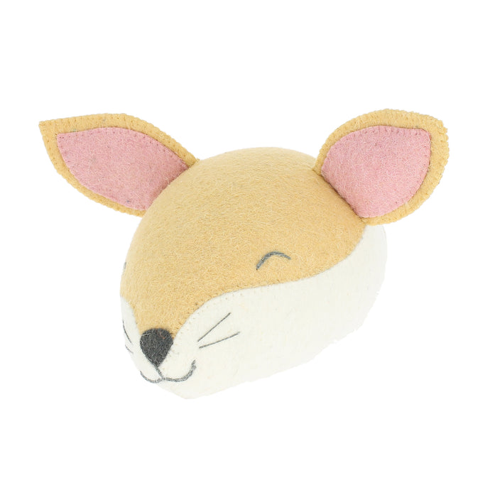Fiona Walker Sleepy Fox Felt Animal Wall Head - Mini