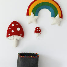 Fiona Walker Red Mushroom Felt Wall Decor