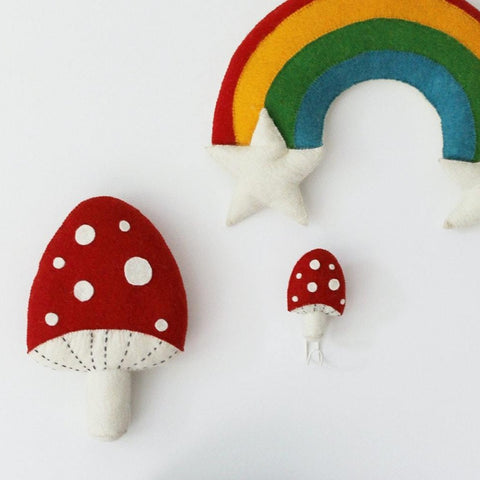 Fiona Walker Felt Red Mushroom Wall Hook