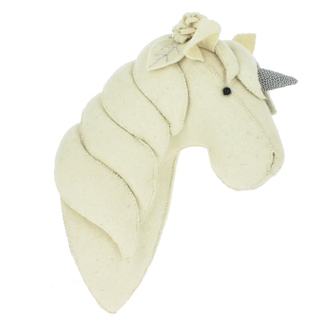 Fiona Walker Profile Unicorn Felt Animal Wall Head