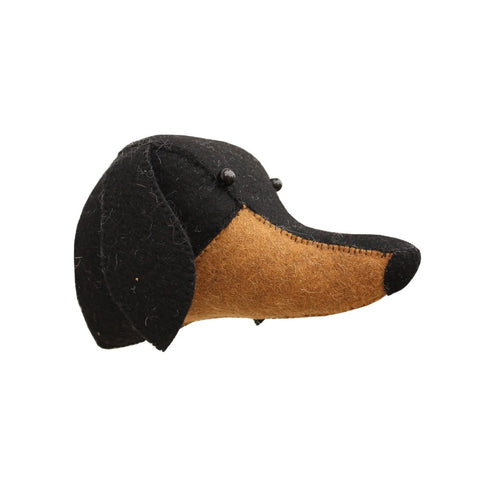Fiona Walker Dachshund Felt Animal Wall Head - Mini