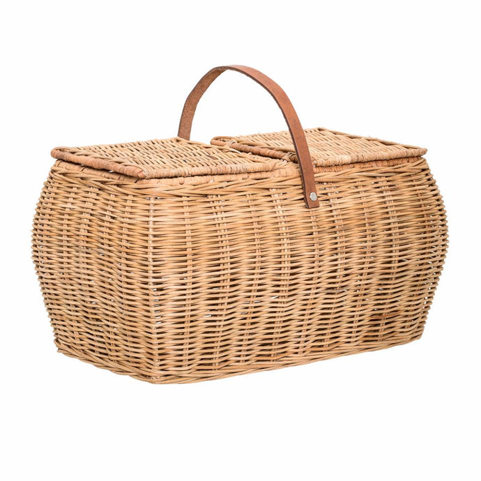 Bloomingville Gor Rattan Basket With Lid