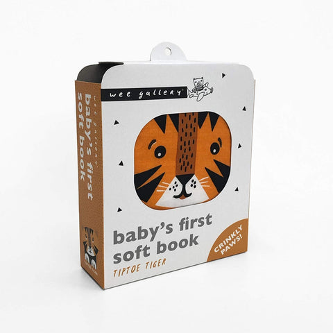 Wee Gallery Tip Toe Tiger - Soft Cloth Book