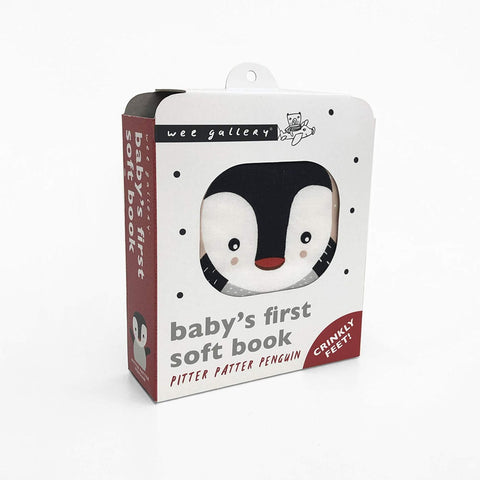 Wee Gallery Pitter Patter Penguin - Soft Cloth Book