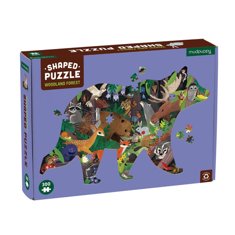 Woodland Forest 300 Piece Shaped Jigsaw Puzzle