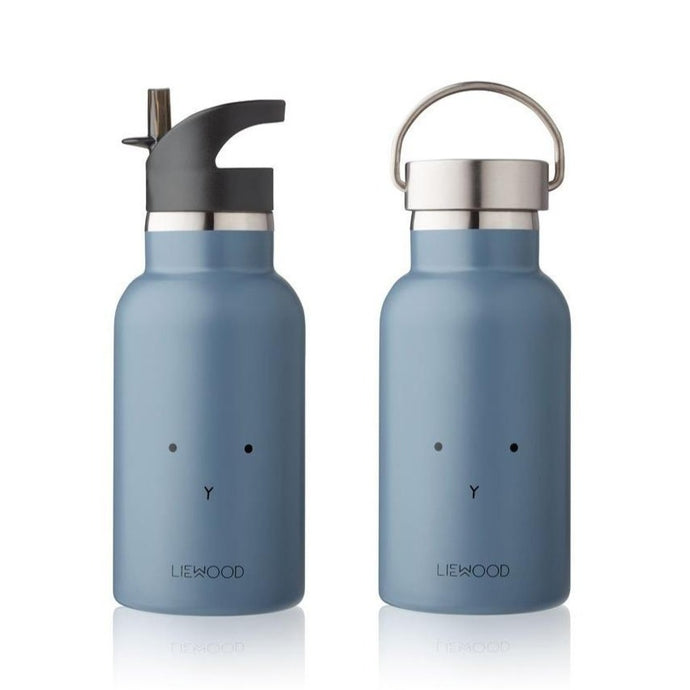 Liewood Anker Steel Water Bottle - Rabbit Blue Wave