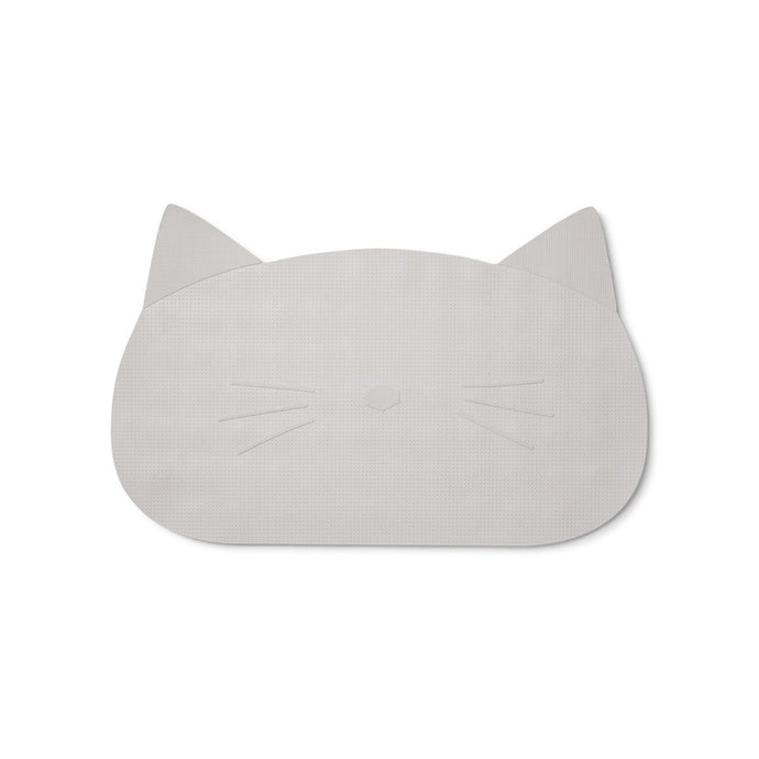 Liewood Storm Natural Rubber Bathmat - Cat Dumbo Grey | Liewood