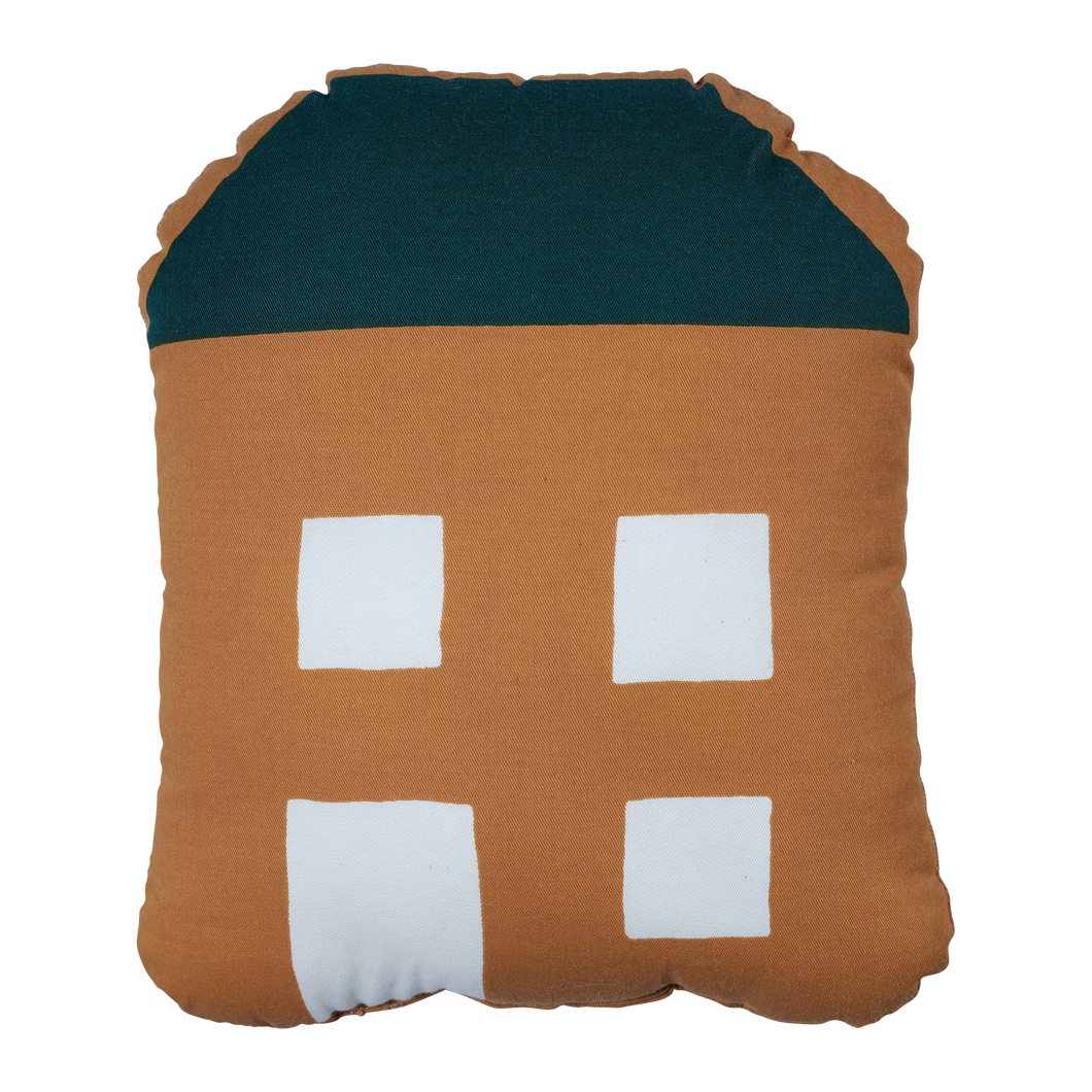 Fabelab Organic Ochre Hut Cushion