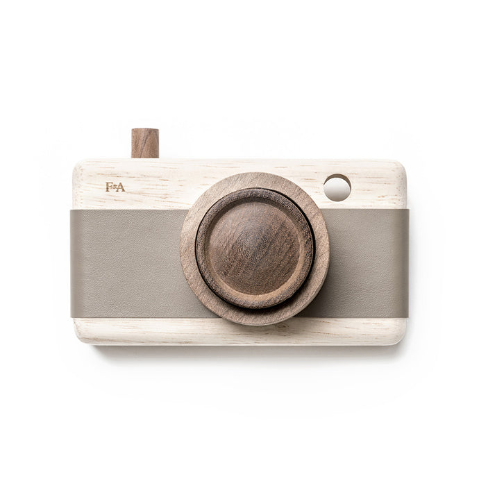 Wooden Camera In River Pebble Grey By Fanny & Alexander