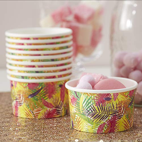 Paper Ice Cream Tubs 8 Pack - Tropical By Ginger Ray