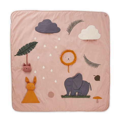 Liewood Organic Maude Baby Activity Blanket & Play Mat - Rose