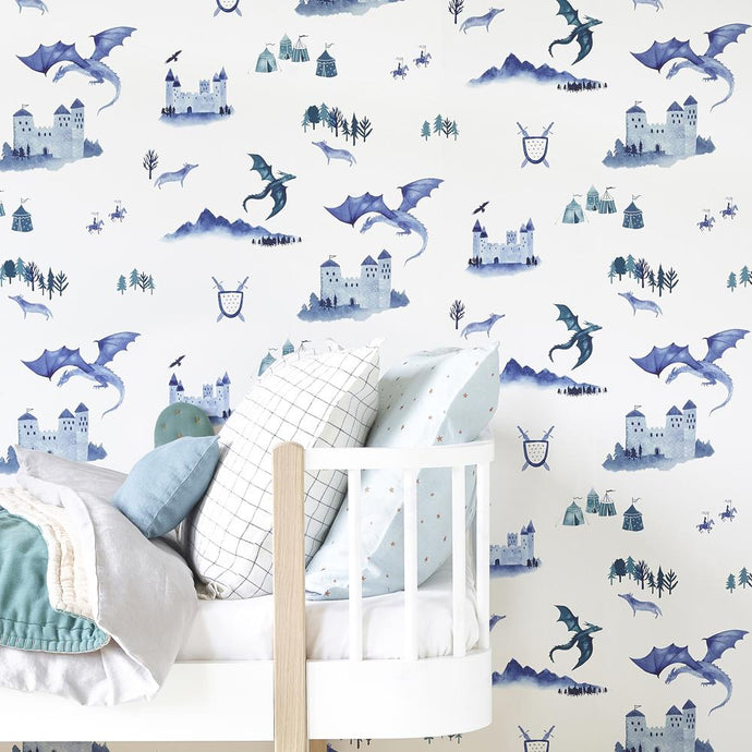 Hibou Home Wallpaper - Castles & Dragons