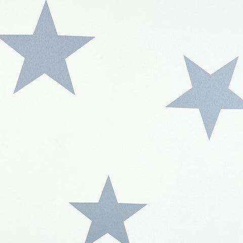 Hibou Home Wallpaper - Stellar Blue/White Stars