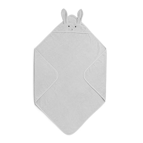 Liewood Organic Augusta Hooded Towel - Rabbit Dumbo Grey
