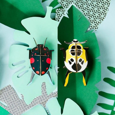 Studio Roof 3D Model Wall Decor - Lady Beetles
