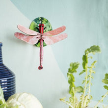 Studio Roof 3D Model Wall Decor - Pink Dragonfly