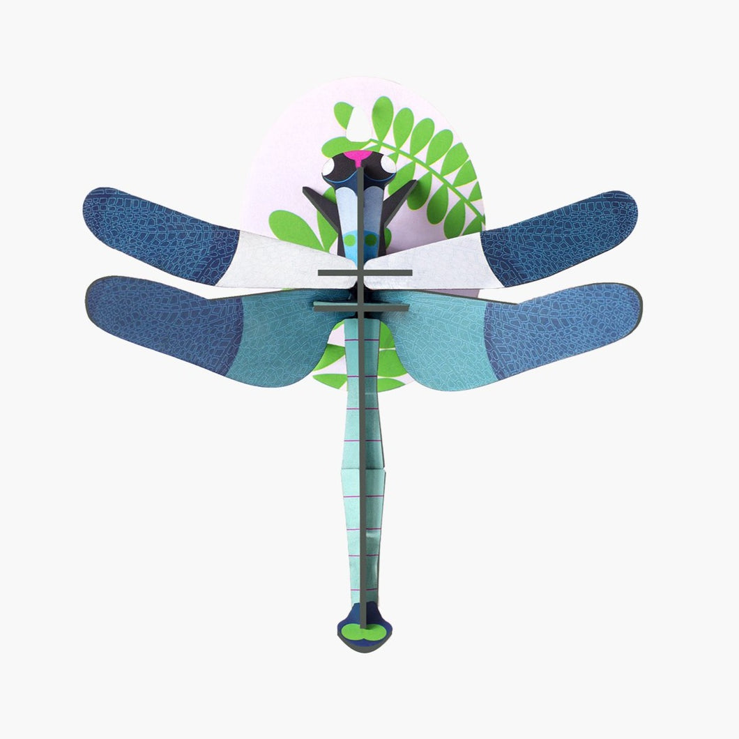 Studio Roof 3D Model Wall Decor - Blue Dragonfly